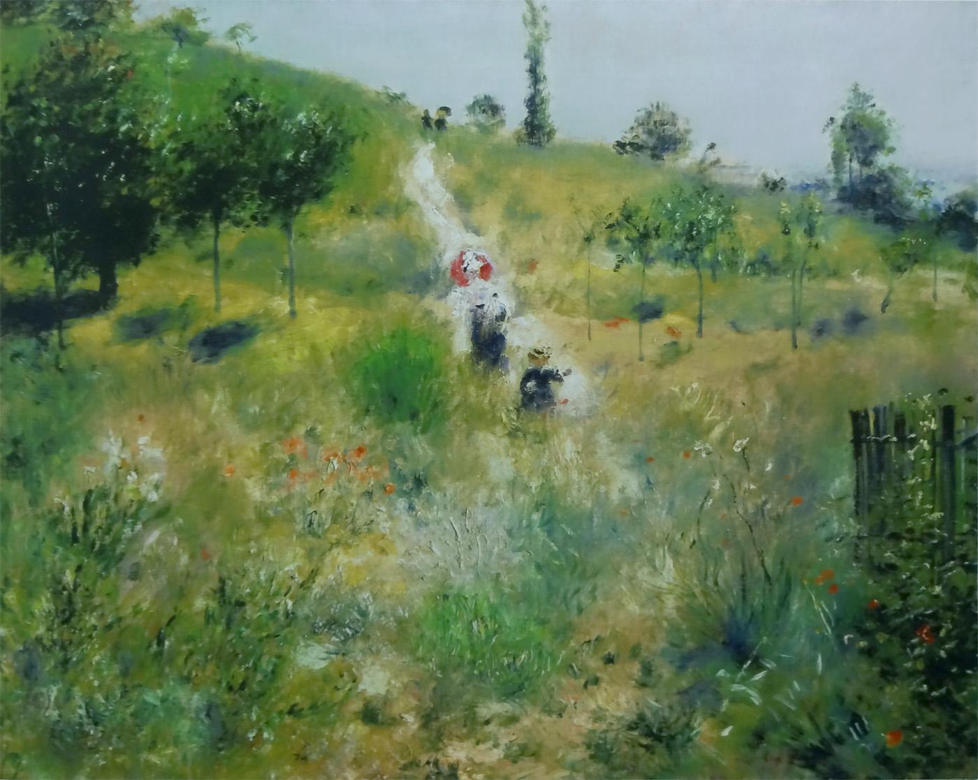 ルノワール『草原の坂道』