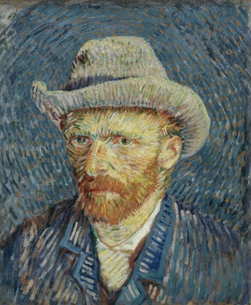 ゴッホ「グレーのフェルト帽の自画像」 1887年
