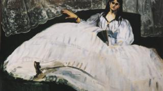 エドゥアール・マネ『横たわるボードレールの恋人』