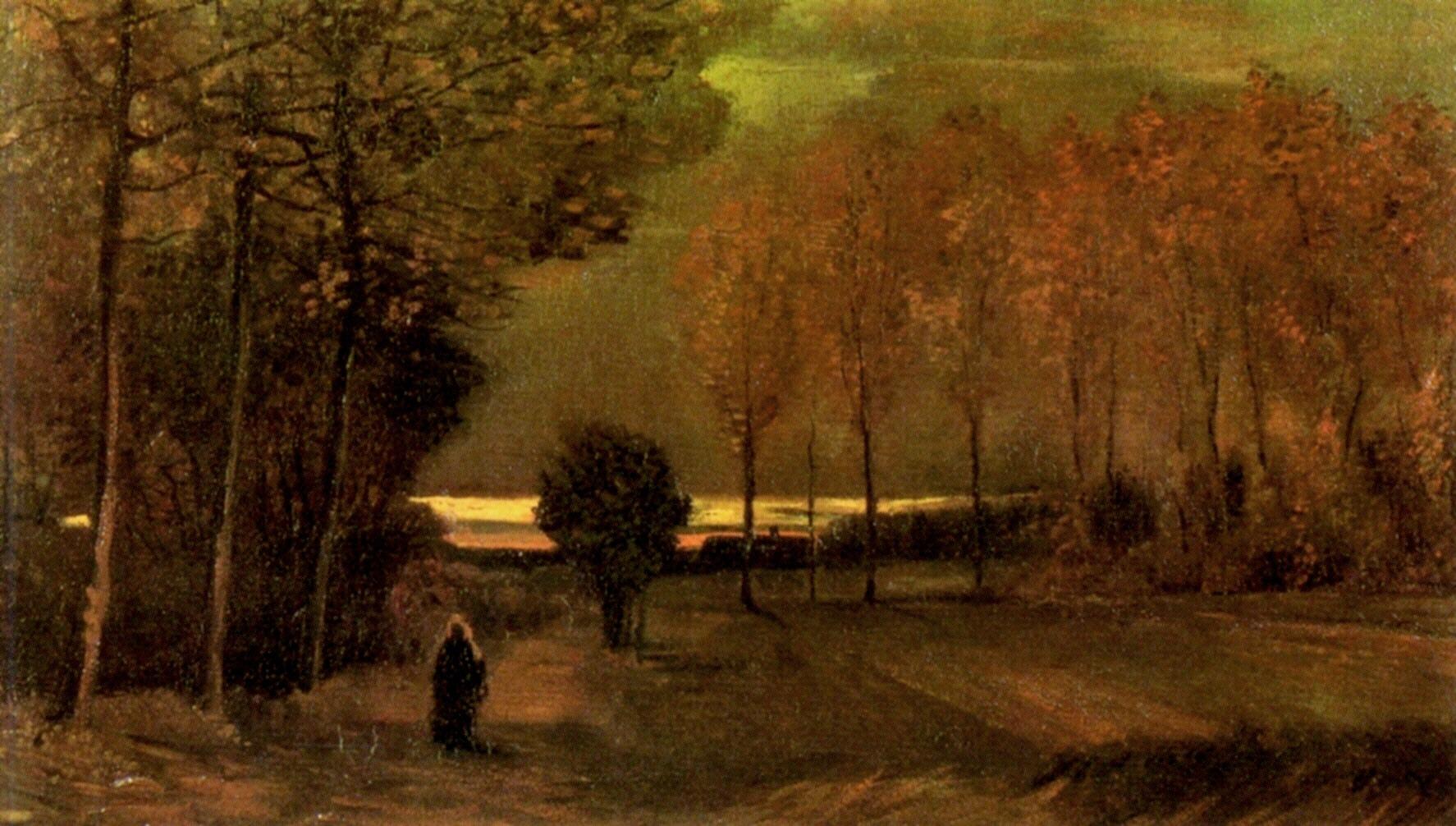 フィンセント・ファン・ゴッホ『夕暮れの秋の風景』 1885年