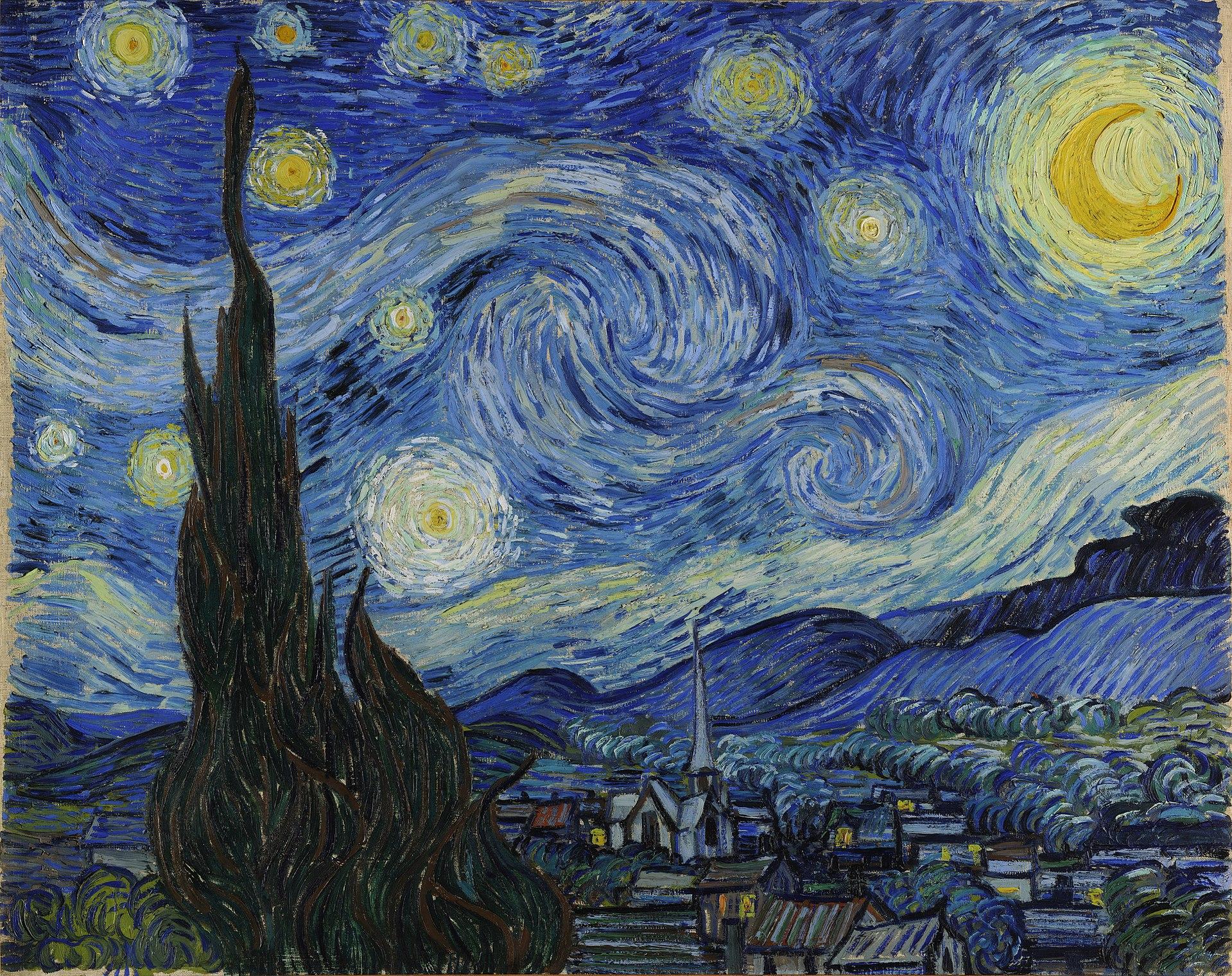 フィンセント・ファン・ゴッホ『星月夜』 1889年
