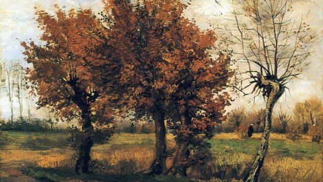フィンセント・ファン・ゴッホ『4本の木のある秋の風景』 1885年